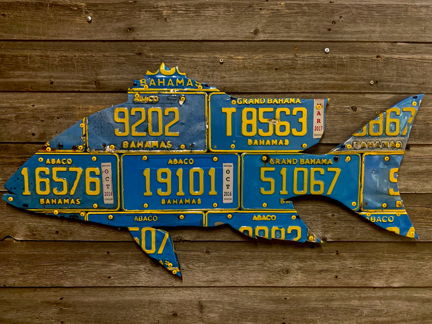 Bahamas Mutton Snapper License Plate Art