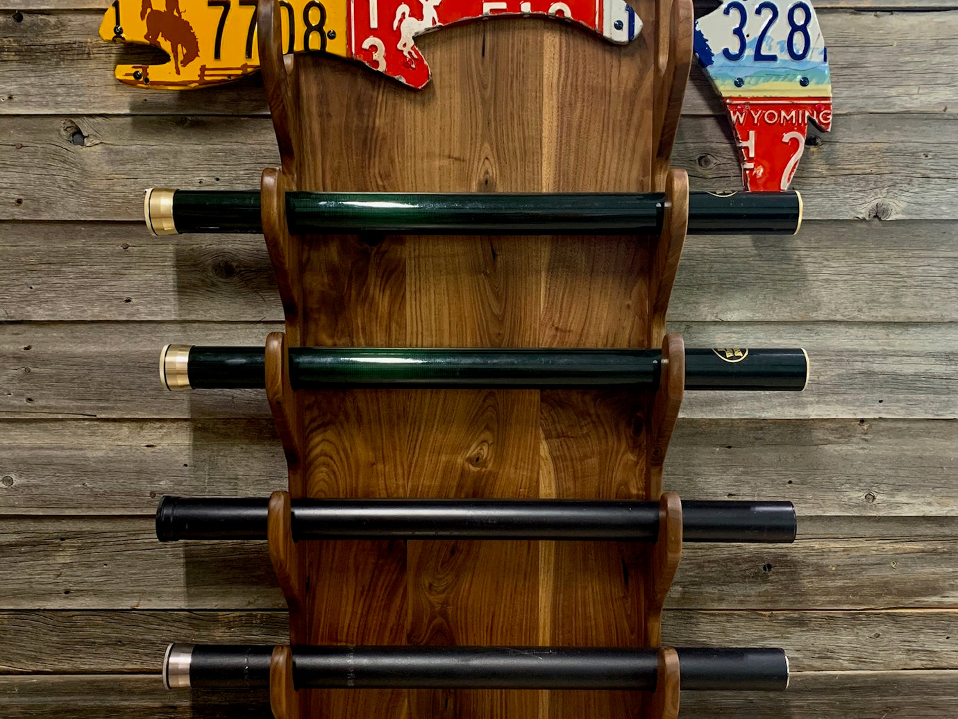 Custom Trout Rod Rack - Walnut