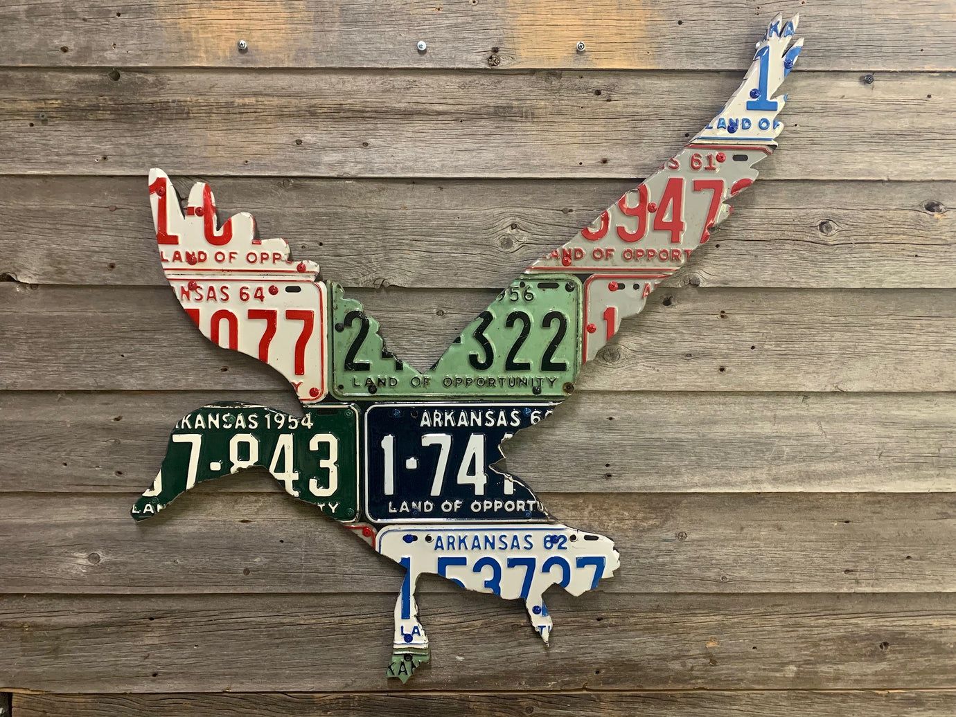Arkansas Antique Duck License Plate Art