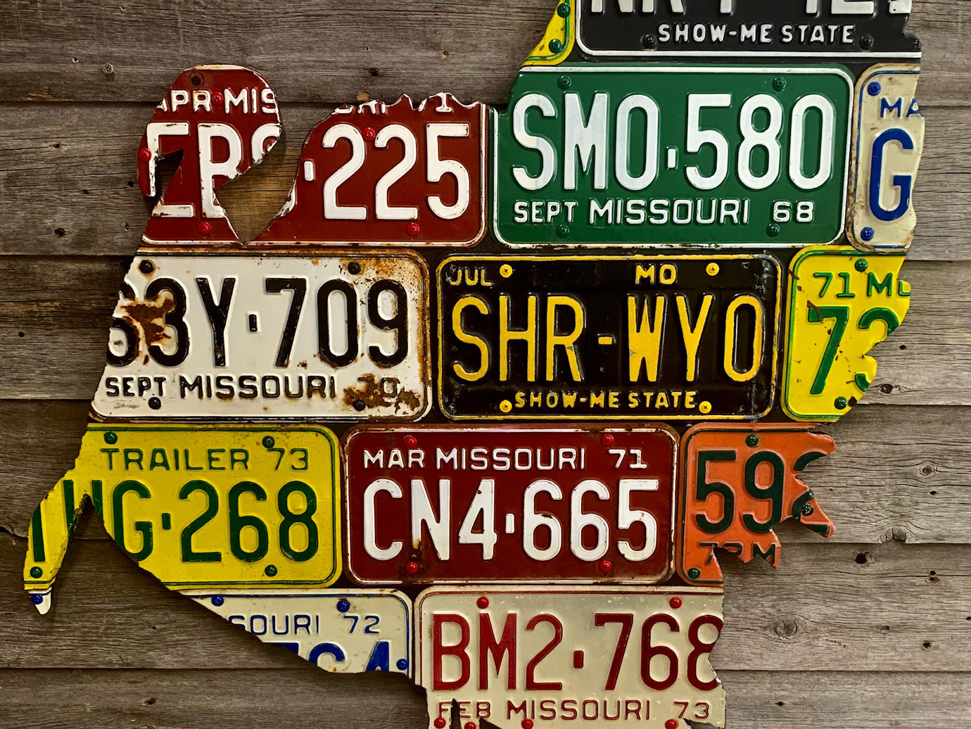 Missouri Turkey License Plate Art