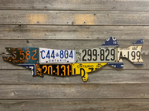 Ontario Pike/Muskie License Plate Art