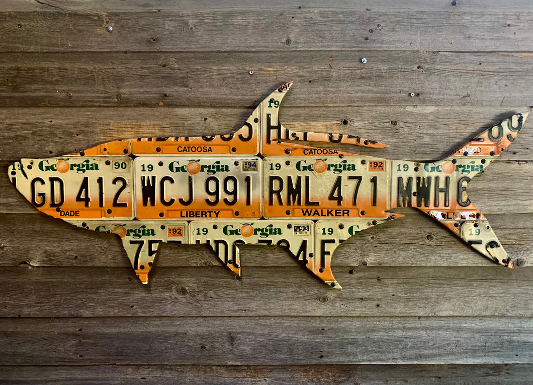 Georgia Tarpon License Plate Art