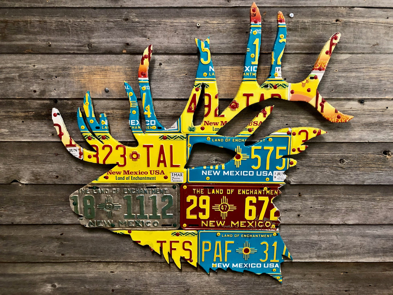New Mexico Elk License Plate Art
