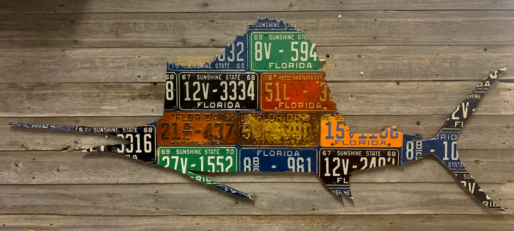 Florida Sailfish License Plate Art