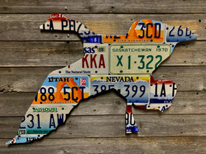 Mixed State Goose License Plate Art
