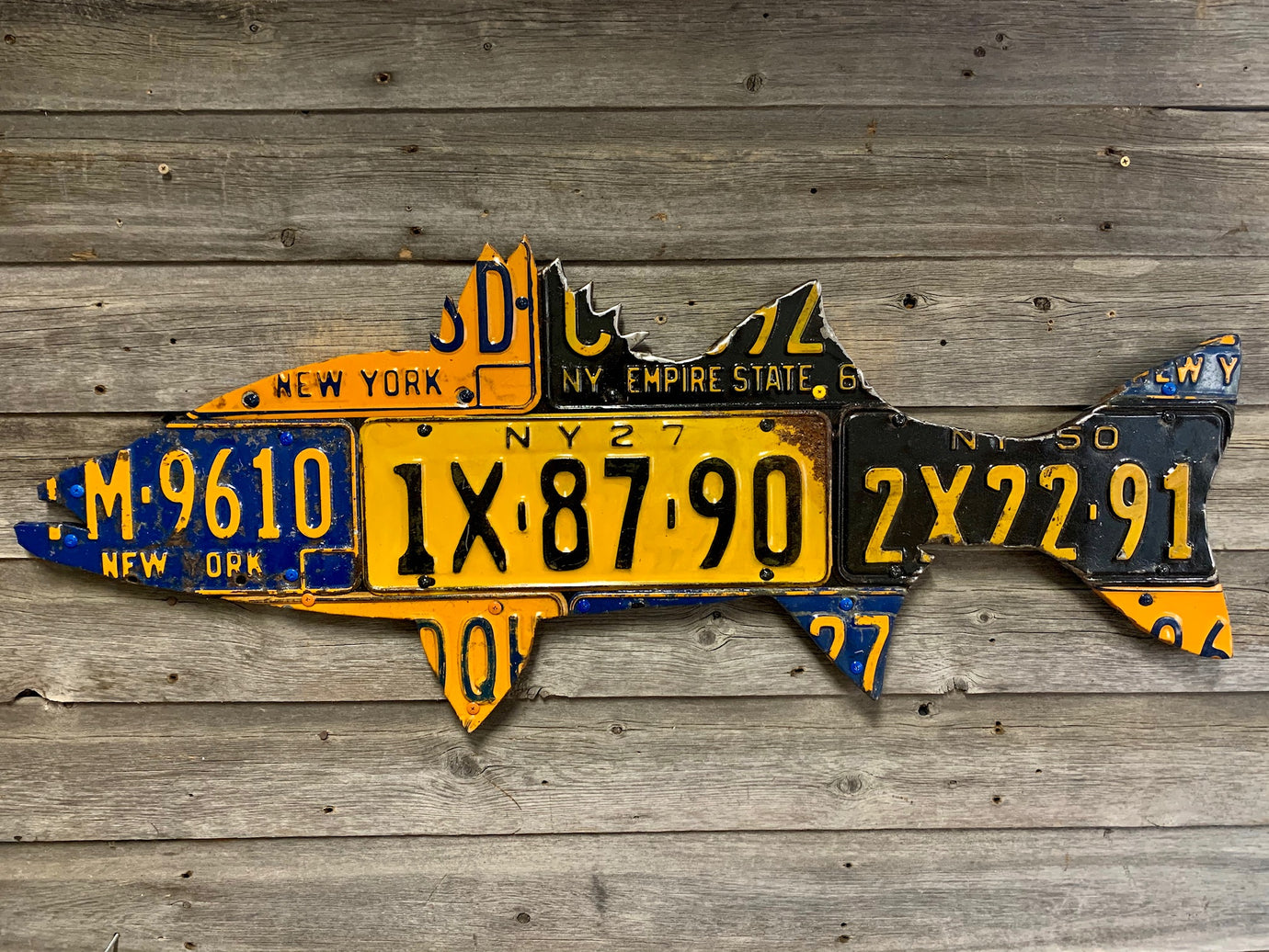 New York Striped Bass License Plate Art