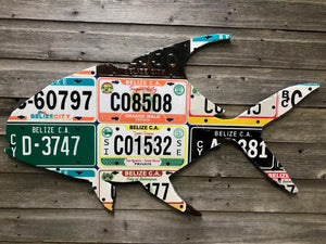 Belize Permit License Plate Art