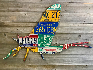 Mixed State Mayfly License Plate Art