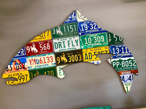 Large 5-Foot Trout License Plate Art
