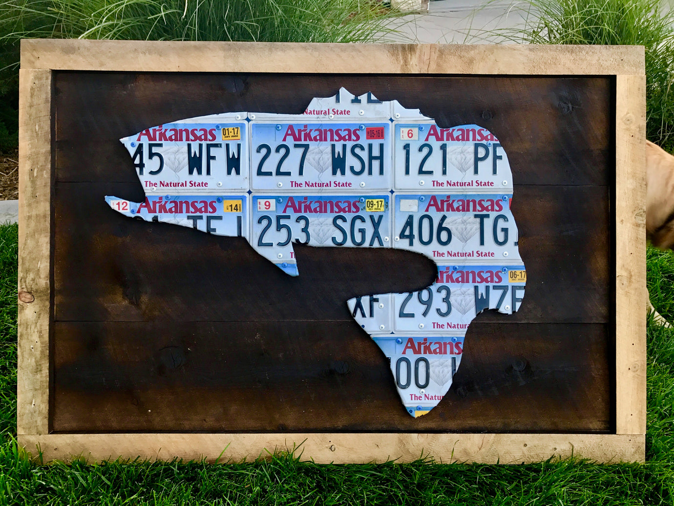 Arkansas Bass License Plate Art