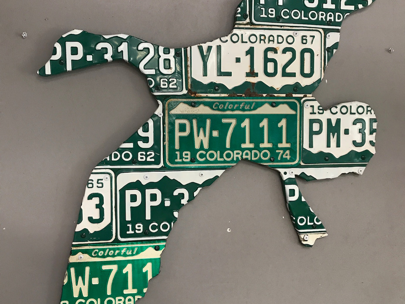 Colorado Goose License Plate Art