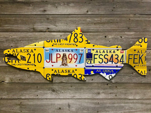 Alaska Chinook Salmon License Plate Art