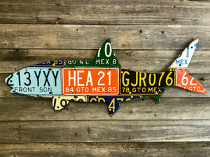 Mexico Bonefish License Plate Art