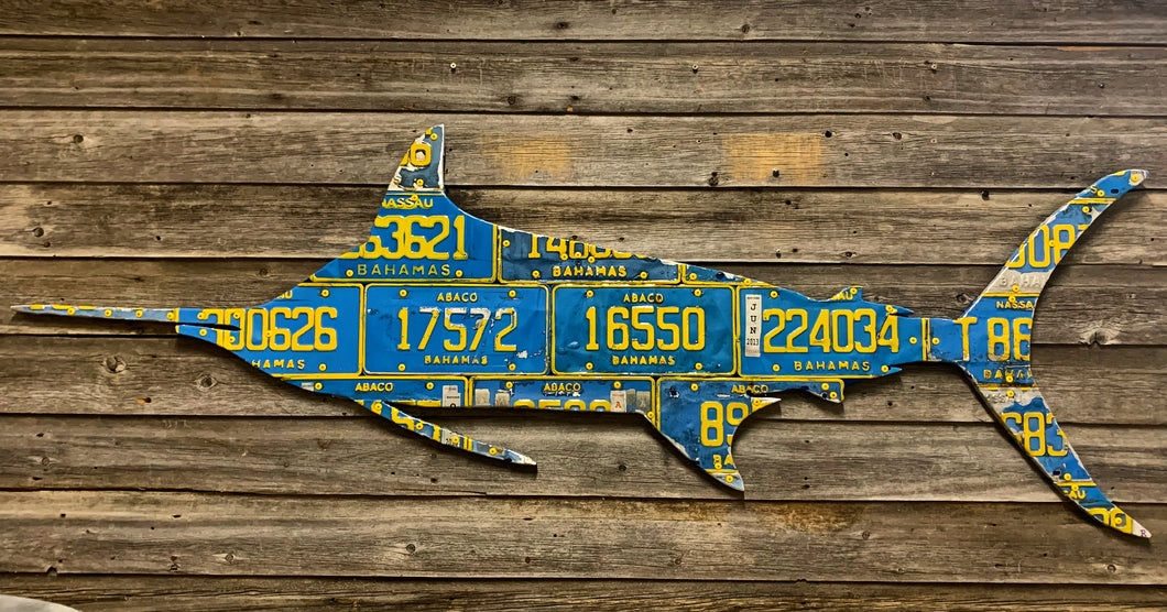 Bahamas Marlin License Plate Art