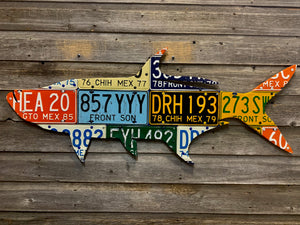 Mexico Tarpon License Plate Art