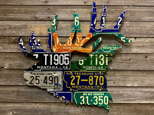 Montana Elk License Plate Art