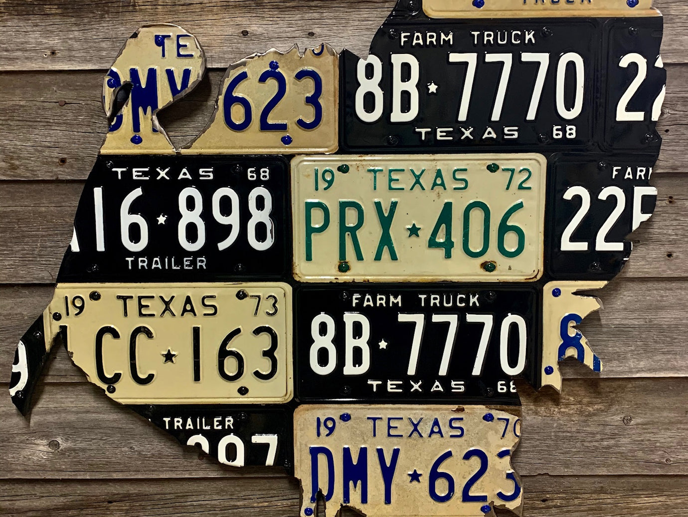 Texas Turkey License Plate Art