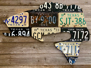 Texas Largemouth Bass License Plate Art