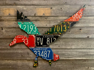 Kansas Duck License Plate Art
