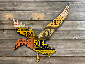 Antique Oklahoma Duck License Plate Art
