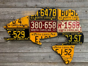 Antique North Carolina Bass License Plate Art