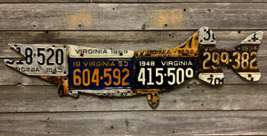 Antique Virginia Pike/Muskie License Plate Art