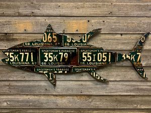 Louisiana Tuna Antique License Plate Art