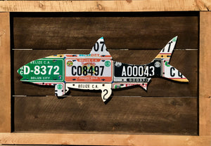 Belize Bonefish License Plate Art