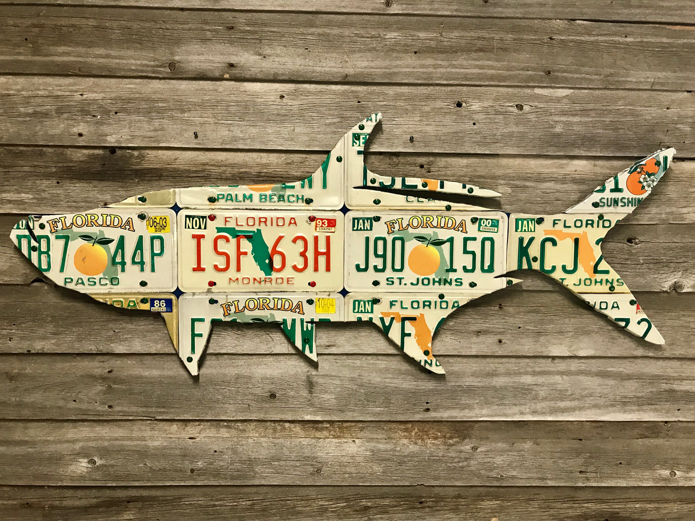 Florida Peach Tarpon License Plate Art