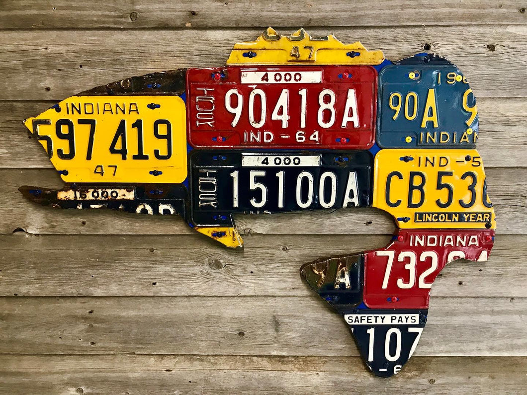 Indiana Bass License Plate Art