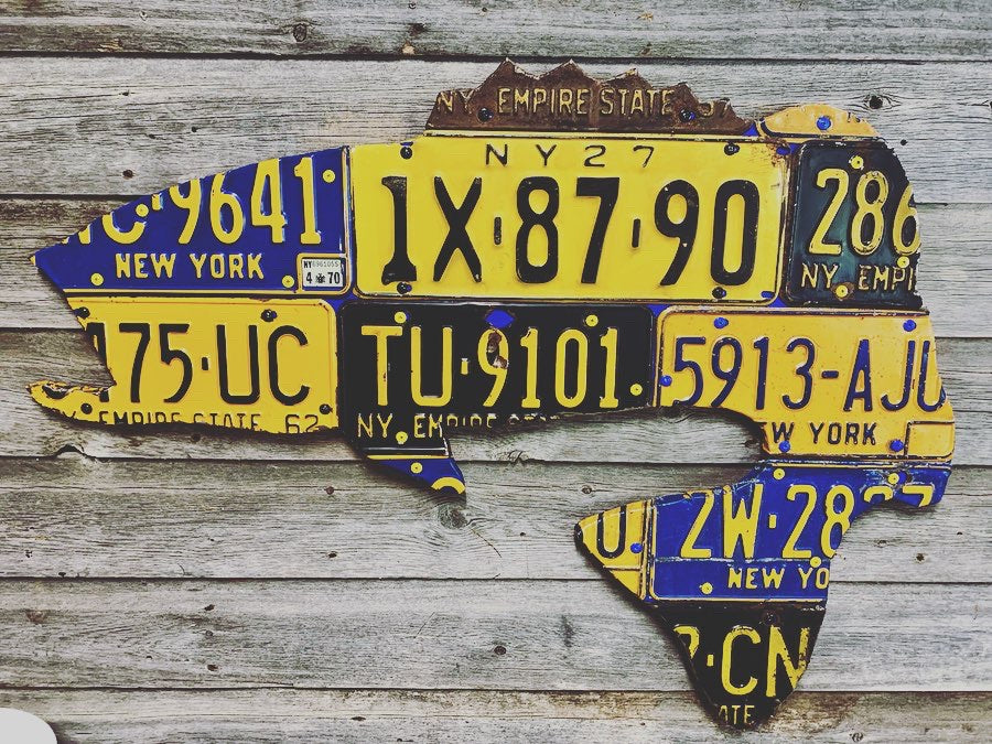 New York Largemouth Bass License Plate Art