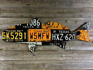 Texas Redfish License Plate Art