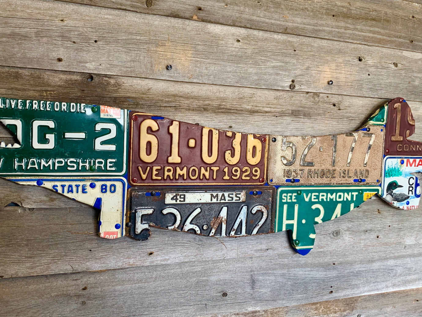 New England Pike/Muskie License Plate Art