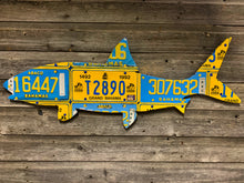 Bahamas Bonefish License Plate Art please choose from all blue or blue yellow mix in notes