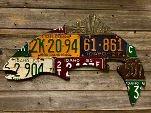 Idaho Antique Trout License Plate Art