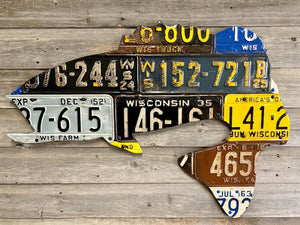 Wisconsin Largemouth Bass License Plate Art