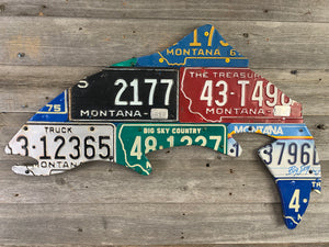 Montana Trout License Plate Art