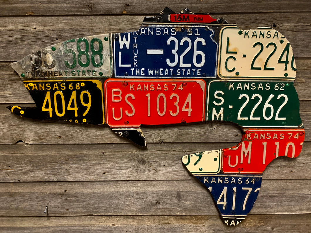 Kansas Bass License Plate Art