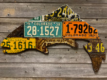 Colorado Antique Trout License Plate Art