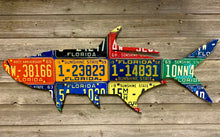 Florida Tarpon Antique License Plate Art