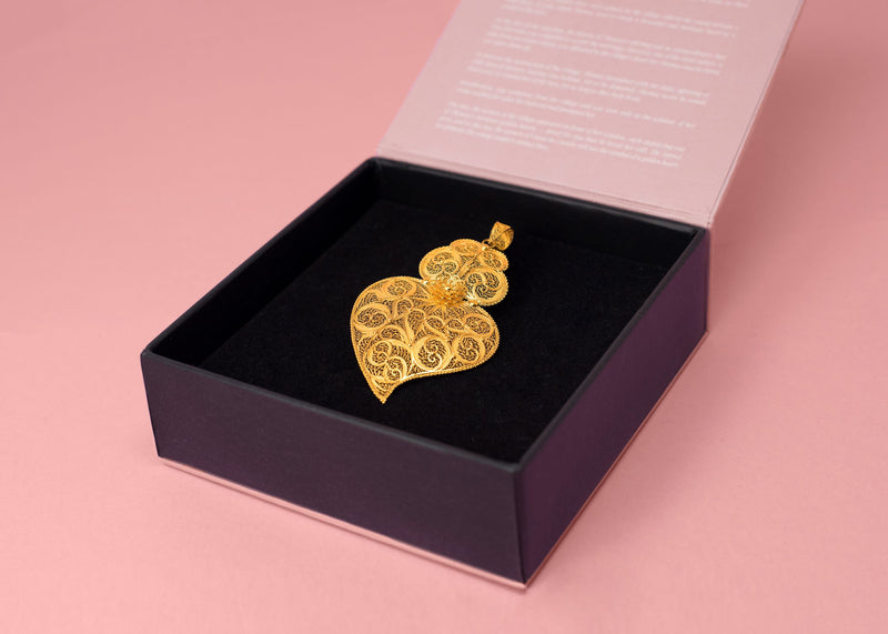 19 Carat Gold Heart Pendant regular size