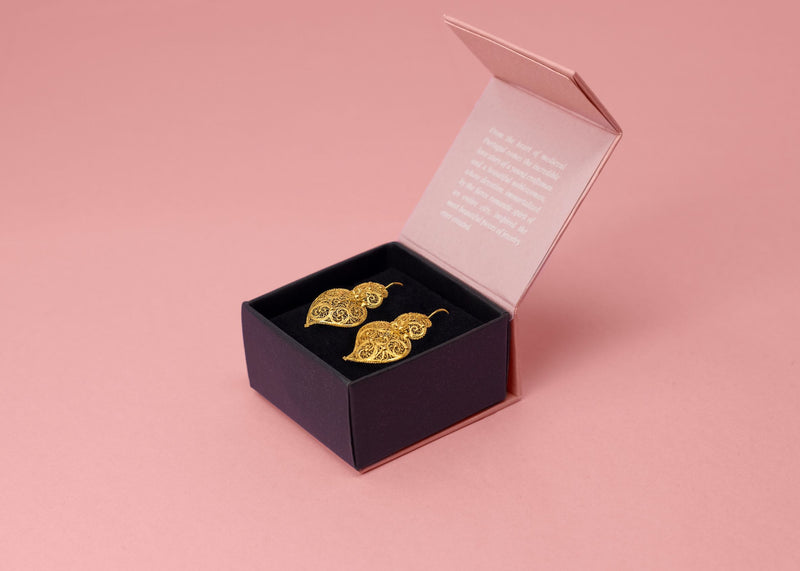 19 Carat Gold Heart Earrings