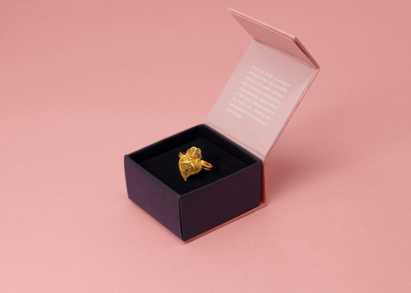 19 Carat Portuguese Gold Viana Heart Ring