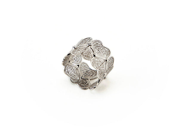 Viana Hearts Ring in Sterling Silver