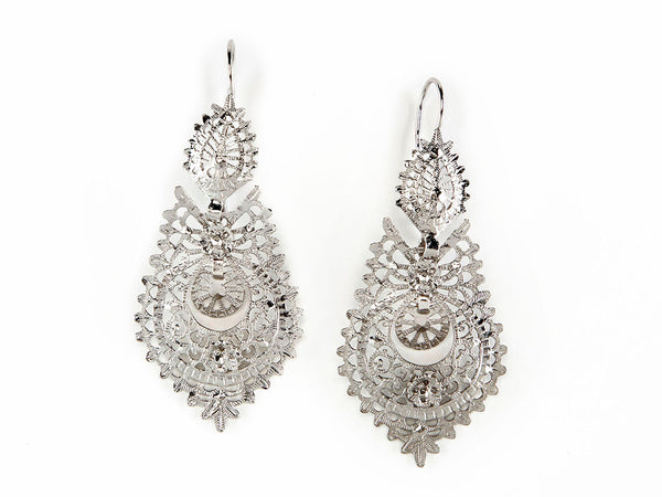 Queen Earrings Sterling Silver