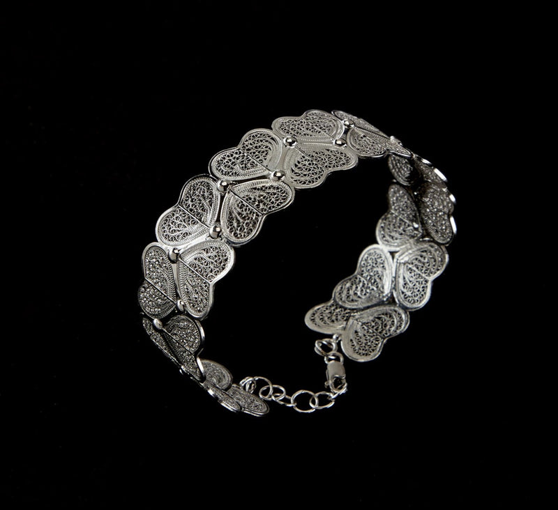 Viana Hearts Bracelet in Sterling Silver