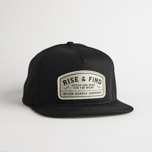 The Early Riser Snapback - Black
