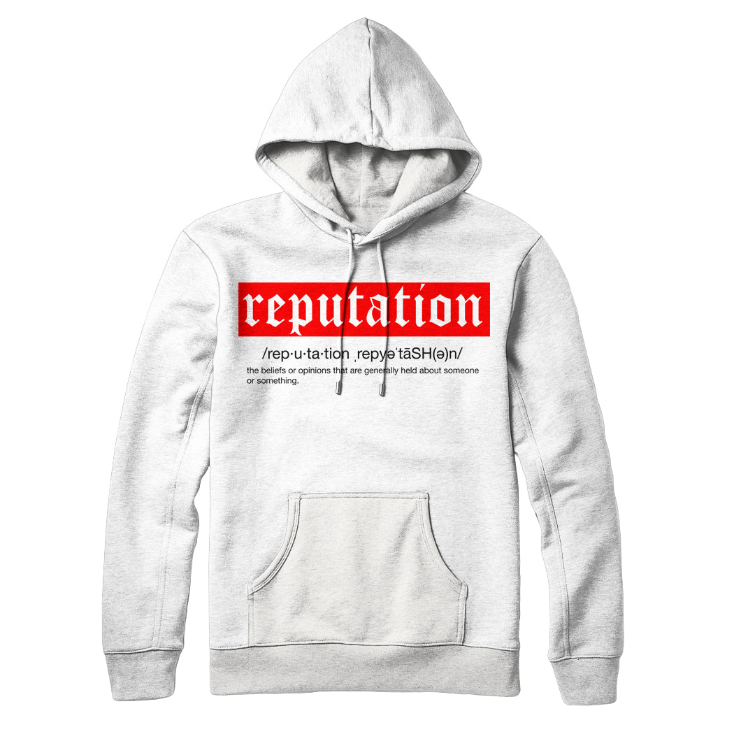 REPUTATION DEF OLD ENGLISH HOODIE