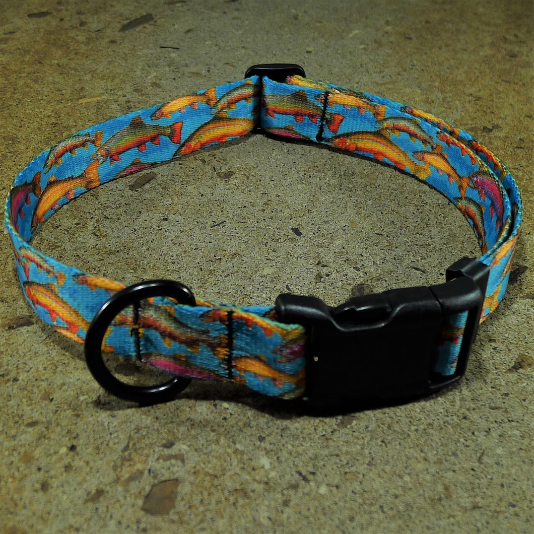 Trout Tales Dog Collar