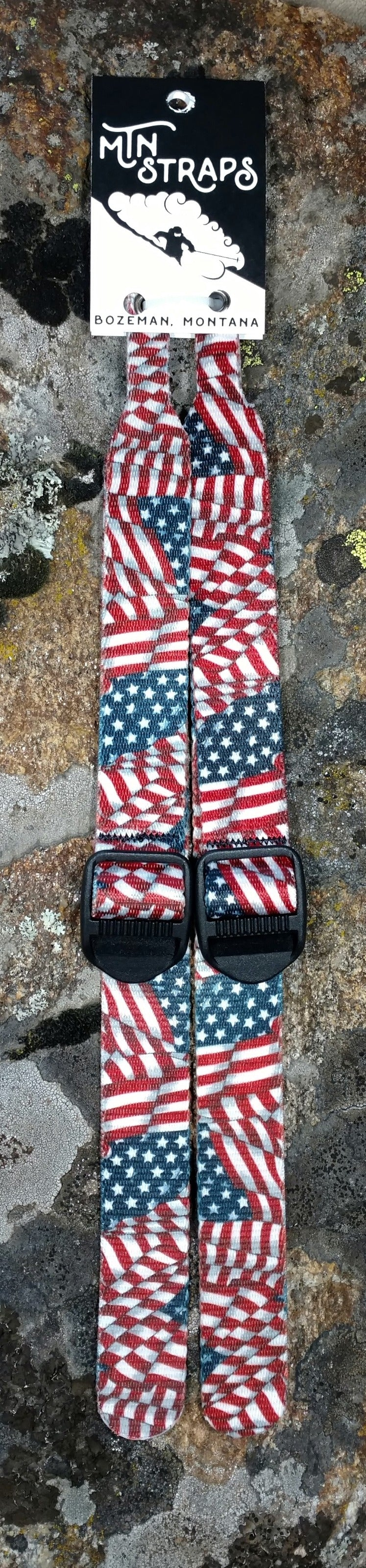 Replacement straps for ski poles. Flag